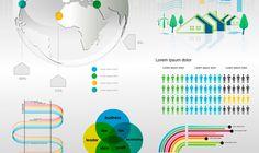 Set de elementos para infografía