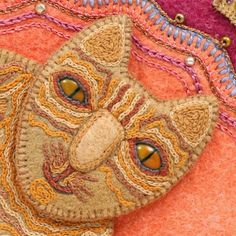 Salley Mavor - embroidery on felt, from Pocketful of Posies