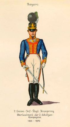 Военная форма Баварии в акварелях художника Drexler J.A. | 23 фотографии