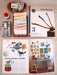 Geninne Featured in Uppercase Magazine - 2009
