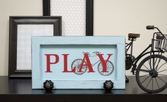 Vinyl Decor Idea made using my Silhouette | PLAY & Bicycle art