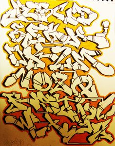 Graffiti Alphabet by Sheok