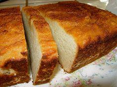 Coconut Pound Cake - (contains: eggs, coconut milk, honey, vanilla extract, coconut flour, baking soda, cinnamon, sea salt, Coconut oil)
