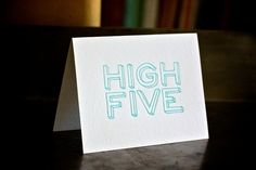 hive five card by majoiepress