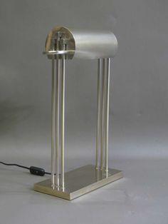 Marcel Breuer; Nickel-Plated Brass Table Lamp, 1925.