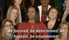 Trending GIF women ladies michelle obama farewell flotus international women's day women's day first lady whm international day of the girl day of the girl reach higher do not ever let anyone make you feel like you don't matter Barack Obama, Michelle Obama Flotus, Obama Farewell, Facing Fear, Negative Words, People Working Together, Love Me Quotes, Girl Day