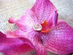 Flower Hair Clips, Flowers In Hair, Purple Orchids, Brooch, Etsy, Jewelry, Jewlery, Bijoux, Jewerly