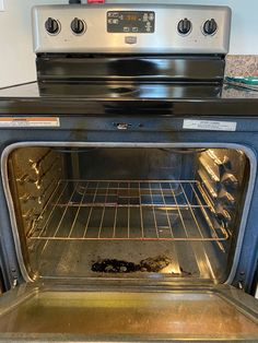 The Internet says you can steam clean your oven with a baking dish filled with vinegar and water. Clean Oven With Vinegar, Vinegar And Water, Oven Cleaner, Oven Dishes, Steam Cleaners, Glass Baking Dish, Me Clean, Wall Oven, How To Clean Carpet