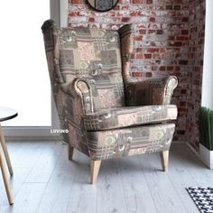 pacz1 Wingback Chair, Armchair, Elegant, Accent Chairs, Furniture, Home Decor, Sofa Chair, Classy, Upholstered Chairs
