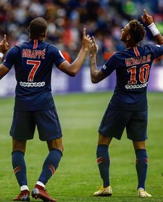 Neymar and Mbappe Messi And Neymar, Lionel Messi, Neymar Psg, Neymar Football, Football Jerseys, Neymar Jr Wallpapers, Mbappe Psg, Cristiano Ronaldo Portugal, Best Duos