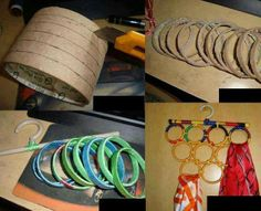 empty duct tape roll bangles