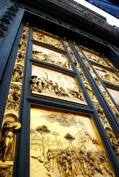 Gates of Paradise by Ghiberti on the doors of the Baptistry in Florence, Italy.