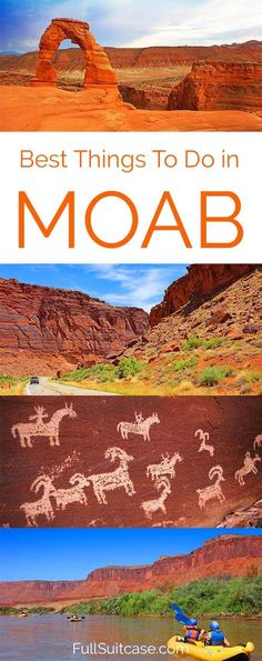 5 must do activities and places to see in Moab, UT (USA) and trip itinerary for 2 to 3 days #utah #moab #TravelDestinationsUsaWest