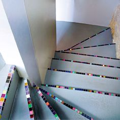 mosaic tiles on stairs