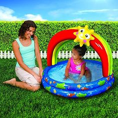 Spring & Summer Toys Banzai 38in-Diameter Rainbow Shade Pool - Smart baby store