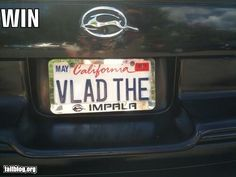 Best vampire license plate EVER!