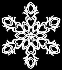 Snowflakes Diy Template, Paper Snowflake Patterns, Paper Snowflakes, Snowflake Designs, Hawaiian Quilt Patterns, Hawaiian Quilts, Paper Art, Paper Crafts, Diy Crafts