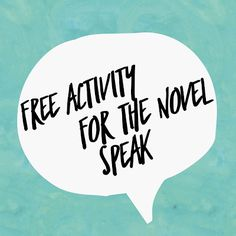 Free lesson idea and worksheet for Laurie Halse Anderson's novel Speak - High Schoo ELA Lesson Plan
