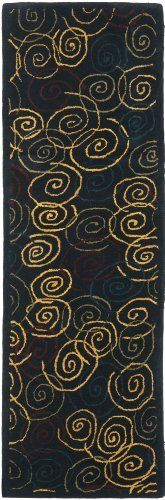 Safavieh HA202A-28 Handmade Navy Hand-Spun Wool Area Runner, 2-Feet 3-Inch by 8-Feet by Safavieh. $69.47. This traditional rug will give your room an elegant accent. The handmade, hand-tufted construction adds durability to this rug, ensuring it will be a favorite for many years. Each rug is handmade with premium, hand-spun wool. This rug features a navy background, and displays a stunning pattern in shades of green, red, blue, and gold. This runner measures 2-feet 3-inch ...
