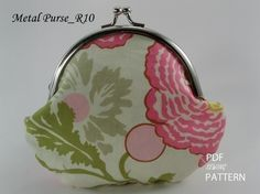 no 128 The Andrea Coin Purse PDF Pattern di sewingwithme2 su Etsy