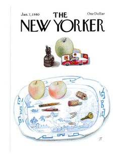 The New Yorker Cover The New Yorker Cover - January 7 1980 Poster Print by Saul Steinberg at the Condé Nast Collection The New Yorker, New Yorker Covers, Saul Steinberg, Graphic Design Illustration, Watercolor Illustration, Smart Set, Beautiful Cover, Drawing Board, Typography Prints