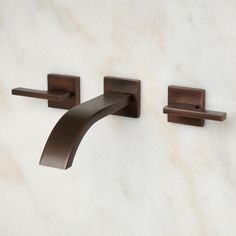 Ultra Wall-Mount Bathroom Faucet - Lever Handles - No Overflow - Oil Rubbed Bronze