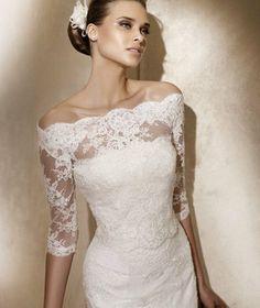 Custom Made Fashional Bridal Wrap Lace 1/2 Long Sleeves Wedding Jacket Cape Wrap on Etsy, $72.32 AUD
