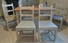 Distressed Rail Back Kitchen Chairs - For Sale | Distressed But Not Forsaken