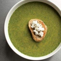 Spinach & Goat Cheese Bisque Recipe
