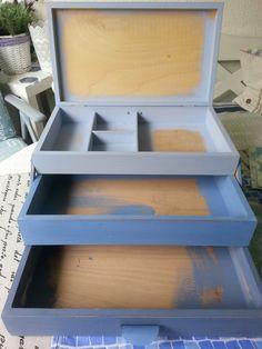 DIY Utensilo aus Tee Box...DIY Utensilo with a old Tea box  DIY Myself...selbstgestaltet ...