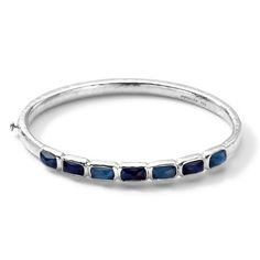 IPPOLITA Sterling Silver Wonderland Small Horizontal 7-Stone Bangle in Taylor