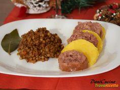 Cotechino con polenta e lenticchie  #ricette #food #recipes