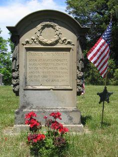 Francis Davis Millet Gravestone, Central Cemetery, Bridgewater, Massachusetts