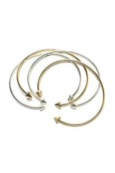 """These cuffs look awesome solo or stacked and are slightly flexible. Diameter approx. 2.5""""   Silver Petite Spike Cuff  by Melene Kent Jewels. Accessories - Jewelry - Bracelets Essex, Boston, Massachusetts"""