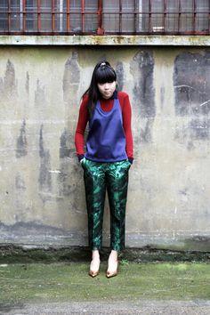 shiny green pants