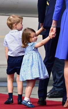 Prince George and Princess Charlotte leave Warsaw, Poland, as they head to Germany