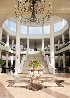 Beautiful hotel entry way at The Grand Palladium in Montego Bay Jamaica