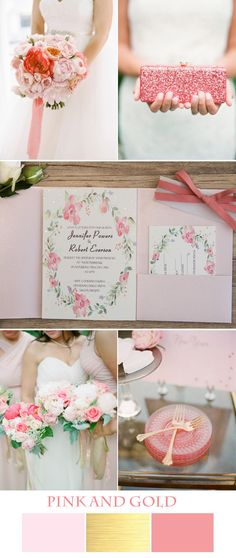 pretty pink and gold wedding ideas