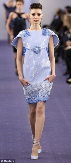 Karl Lagerfeld dress -- I love all the different and unique textures on the dress and the analogous colour scheme