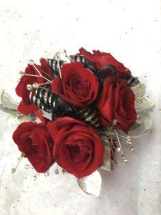 Beautiful red pin corsage