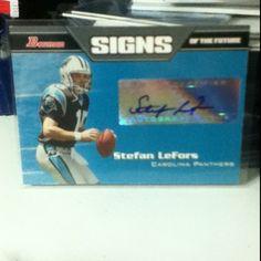 Carolina Panthers Rookie Qb Nfl Autograph Football Card