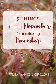 5 things to do in November for a relaxing December | Stress Free Christmas | Intentional Holidays