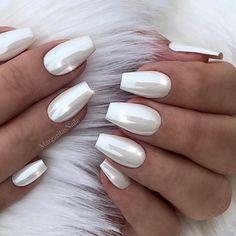 White chrome nails #whitenails#nails#coffinnails#chromenails#MargaritasNailz#vetrogel#nailfashion#naildesign#nailswag#nailedit#nailcandy#glamnails#nailsofinstagram#nailaddict#nailstagram#teamvalentino#unicornnails#instagramnails#hudabeauty#nailsoftheday#nailporn#nailsonfleek#fashionnails#trendynails#modernsalon#whitechromenails#blingnails#weddingnails#nails2inspire#whitechrome