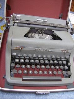Typewriter in a box - VERY similar to the one my parents had!