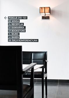 Signage system for a Hotel