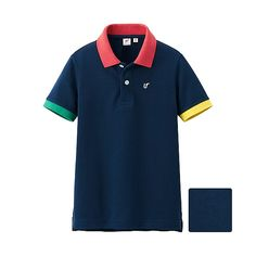UNIQLO x Michael Bastian KIDS UNISEX Short Sleeve Polo Shirt By MB - Navy Colour Block