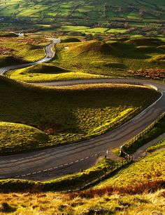 Curvas, Edale, Inglaterra