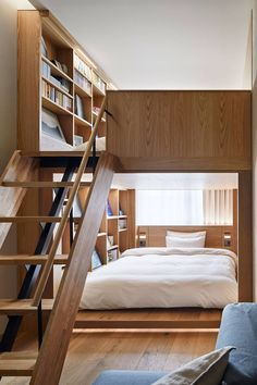 The best Tokyo hotels - Expolore the best and the special ideas about Hotel interiors Small Apartments, Small Spaces, Bed Design, House Design, Condo Design, Salon Design, Flat Design, Muji Home, Hotel Room Design