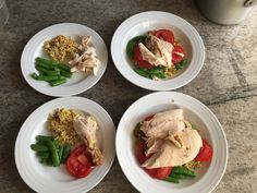 Last week's dinners for my family, working a 'system' for the week to save time, effort & energy for other things.