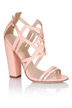 2a8f7f3b4 Little Mistress Footwear Pink Square Heel Strap Shoes - Little Mistress  Footwear from Little Mistress UK